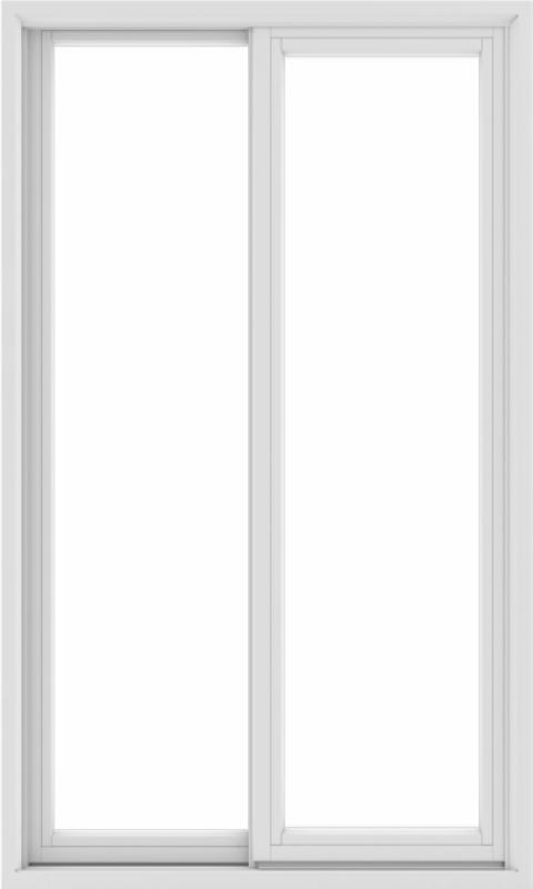 WDMA 36X60 (35.5 x 59.5 inch) White uPVC/Vinyl Sliding Window without Grids Exterior