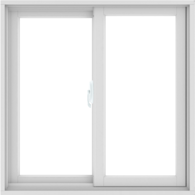WDMA 36X36 (35.5 x 35.5 inch) White uPVC/Vinyl Sliding Window without Grids Interior