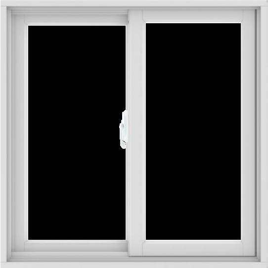 WDMA 36X36 (35.5 x 35.5 inch) White uPVC/Vinyl Sliding Window without Grids Interior