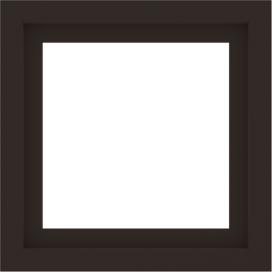 WDMA 24x24 (23.5 x 23.5 inch) Dark Bronze Aluminum Picture Window without Grids Interior