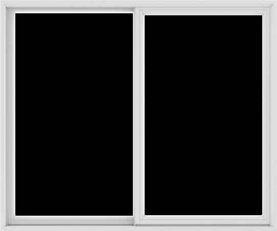 WDMA 72X60 (71.5 x 59.5 inch) White uPVC/Vinyl Sliding Window without Grids Exterior