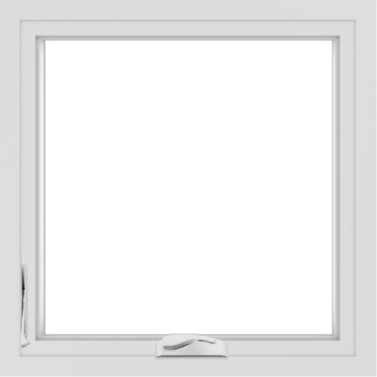 WDMA 24x24 (23.5 x 23.5 inch) White Aluminum Crank out Casement Window without Grids