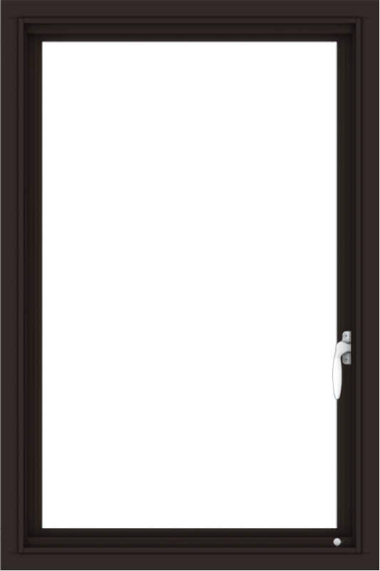 WDMA 24x36 (23.5 x 35.5 inch) Dark Bronze aluminum Push out Casement Window without Grids Interior