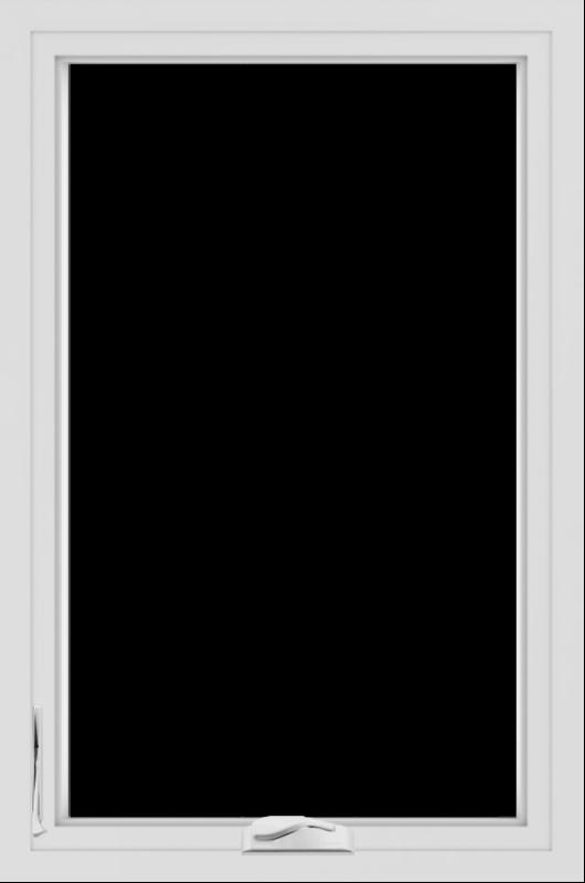 WDMA 24x36 (23.5 x 35.5 inch) black uPVC/Vinyl Crank out Casement Window without Grids Interior