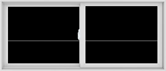 WDMA 84X36 (83.5 x 35.5 inch) White uPVC/Vinyl Sliding Window without Grids Interior