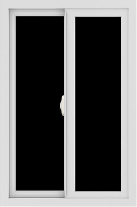 WDMA 24x36 (23.5 x 35.5 inch) black uPVC/Vinyl Slide Window without Grids Interior