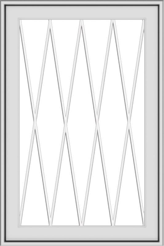 WDMA 24x36 (23.5 x 35.5 inch) White aluminum Push out Awning Window with Diamond Grids