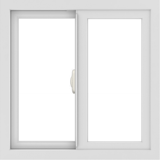 WDMA 24x24 (23.5 x 23.5 inch) White Aluminum Slide Window without Grids Interior