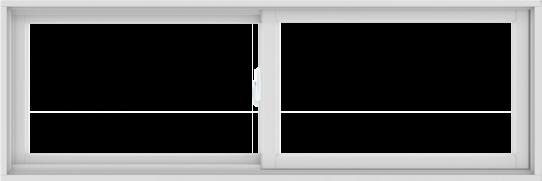 WDMA 72X24 (71.5 x 23.5 inch) White uPVC/Vinyl Sliding Window without Grids Interior