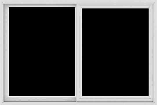 WDMA 72X48 (71.5 x 47.5 inch) White uPVC/Vinyl Sliding Window without Grids Exterior