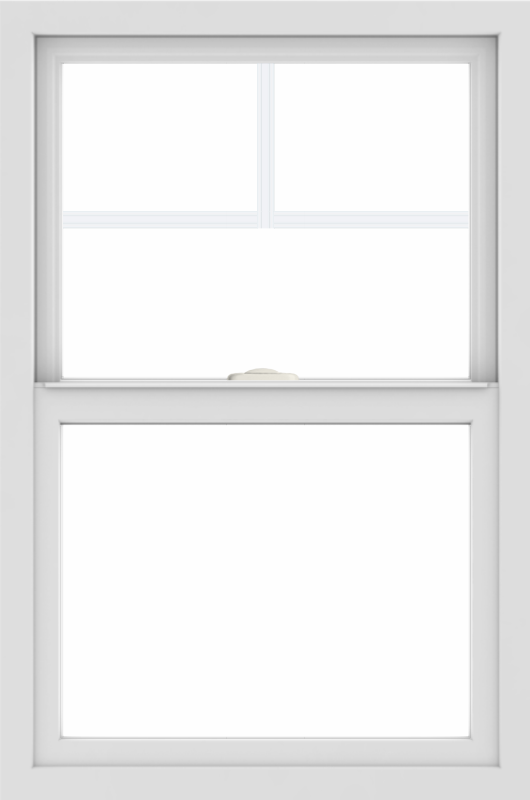 WDMA 24x36 (24.5 x 36.5 inch) White uPVC/Vinyl Single and Double Hung Window with Fractional Grilles