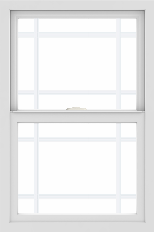 WDMA 24x36 (24.5 x 36.5 inch) White uPVC/Vinyl Single and Double Hung Window with Prairie Grilles
