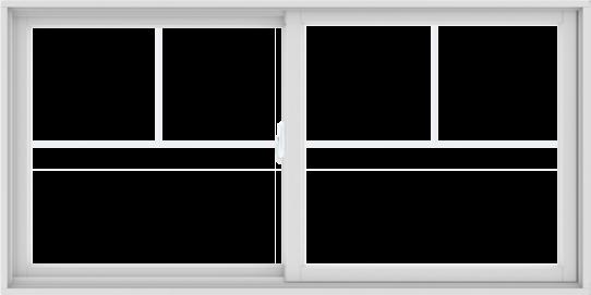 WDMA 72X36 (71.5 x 35.5 inch) White uPVC/Vinyl Sliding Window with Fractional Grilles