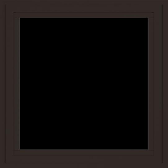 WDMA 24x24 (23.5 x 23.5 inch) Dark Bronze Aluminum Crank out Casement Window without grids exterior