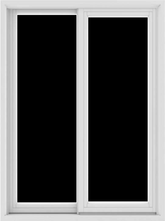 WDMA 36X48 (35.5 x 47.5 inch) White uPVC/Vinyl Sliding Window without Grids Exterior