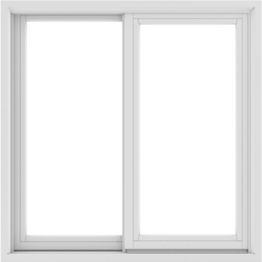 WDMA 36X36 (35.5 x 35.5 inch) White uPVC/Vinyl Sliding Window without Grids Exterior