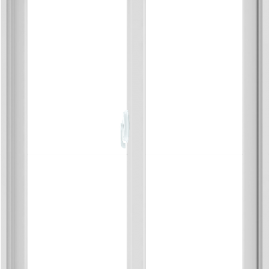 WDMA 36X48 (35.5 x 47.5 inch) White uPVC/Vinyl Sliding Window without Grids Interior