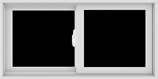 WDMA 48X24 (47.5 x 23.5 inch) White uPVC/Vinyl Sliding Window without Grids Interior