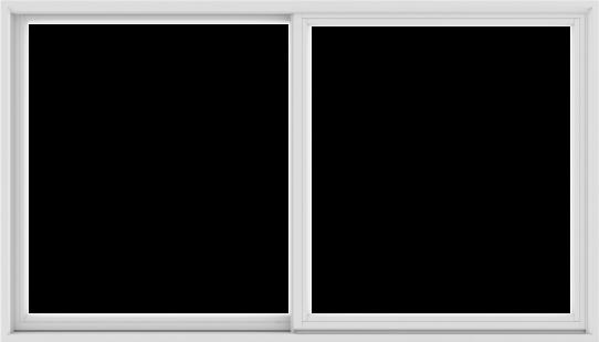 WDMA 84X48 (83.5 x 47.5 inch) White uPVC/Vinyl Sliding Window without Grids Exterior
