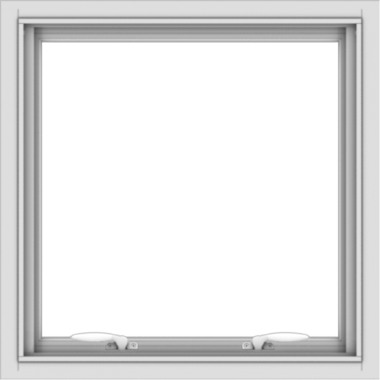 WDMA 24x24 (23.5 x 23.5 inch) White uPVC/Vinyl Push out Awning Window without Grids Interior