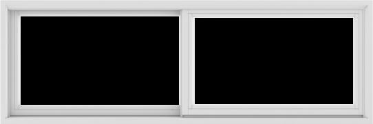 WDMA 72X24 (71.5 x 23.5 inch) White uPVC/Vinyl Sliding Window without Grids Exterior