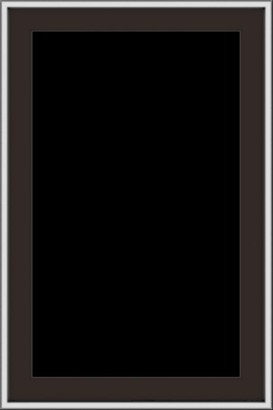 WDMA 24x36 (23.5 x 35.5 inch) Dark Bronze aluminum Push out Casement Window without grids exterior