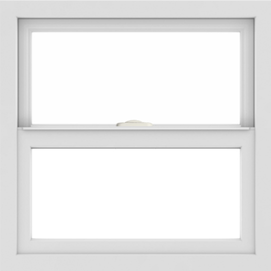WDMA 24x24 (23.5 x 23.5 inch) White uPVC/Vinyl Single and Double Hung Window without grids interior