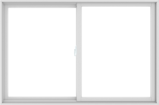 WDMA 72X48 (71.5 x 47.5 inch) White uPVC/Vinyl Sliding Window without Grids Interior