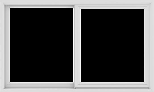 WDMA 60X36 (59.5 x 35.5 inch) White uPVC/Vinyl Sliding Window without Grids Exterior