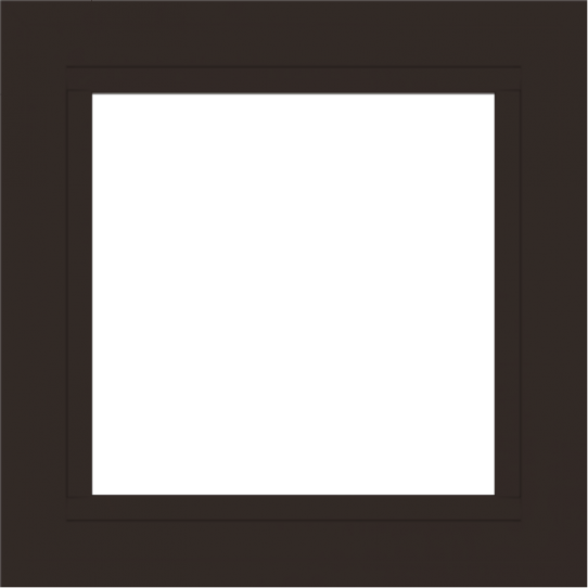 WDMA 24x24 (23.5 x 23.5 inch) Dark Bronze Aluminum Picture Window without grids exterior