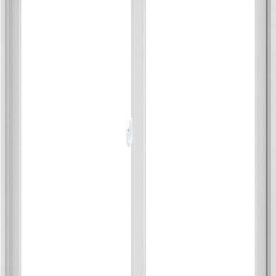 WDMA 48X60 (47.5 x 59.5 inch) White uPVC/Vinyl Sliding Window without Grids Interior