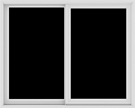 WDMA 60X48 (59.5 x 47.5 inch) White uPVC/Vinyl Sliding Window without Grids Exterior