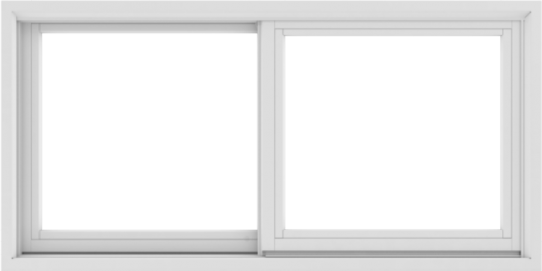 WDMA 48X24 (47.5 x 23.5 inch) White uPVC/Vinyl Sliding Window without Grids Exterior