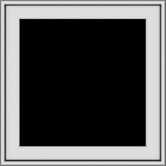 WDMA 24x24 (23.5 x 23.5 inch) White uPVC/Vinyl Push out Casement Window without grids exterior