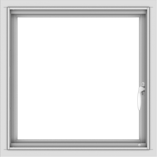 WDMA 24x24 (23.5 x 23.5 inch) White Aluminum Push out Casement Window without Grids Interior