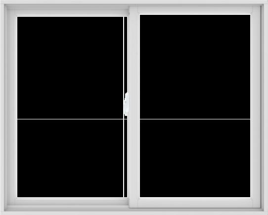 WDMA 60X48 (59.5 x 47.5 inch) White uPVC/Vinyl Sliding Window without Grids Interior