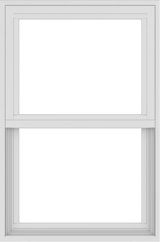 WDMA 24x36 (24.5 x 36.5 inch) White uPVC/Vinyl Single and Double Hung Window without grids exterior