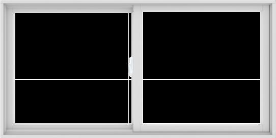 WDMA 72X36 (71.5 x 35.5 inch) White uPVC/Vinyl Sliding Window without Grids Interior