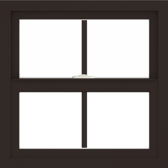 WDMA 24x24 (23.5 x 23.5 inch) Dark Bronze Aluminum Single and Double Hung Window with Colonial Grilles