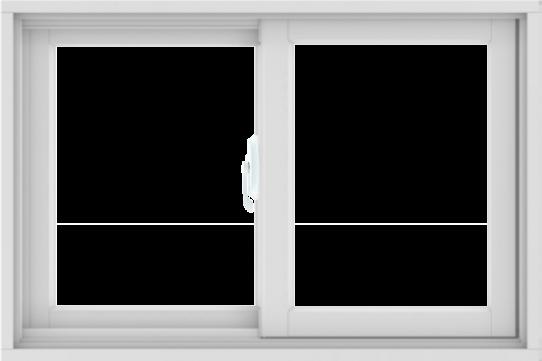 WDMA 36X24 (35.5 x 23.5 inch) White uPVC/Vinyl Sliding Window without Grids Interior