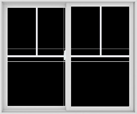 WDMA 72X60 (71.5 x 59.5 inch) White uPVC/Vinyl Sliding Window with Fractional Grilles