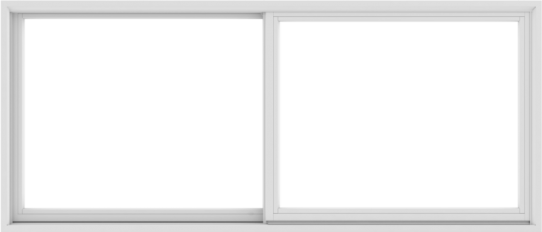 WDMA 84X36 (83.5 x 35.5 inch) White uPVC/Vinyl Sliding Window without Grids Exterior