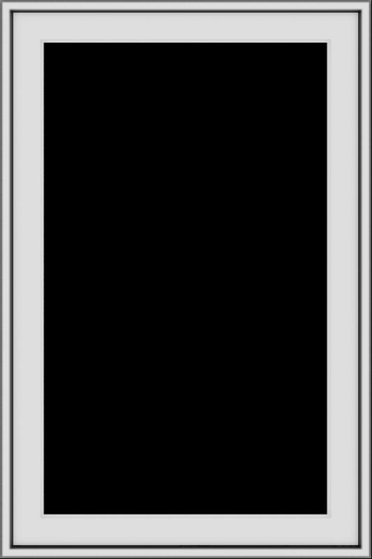 WDMA 24x36 (24.5 x 36.5 inch) White uPVC/Vinyl Push out Casement Window without grids exterior