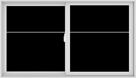 WDMA 84X48 (83.5 x 47.5 inch) White uPVC/Vinyl Sliding Window without Grids Interior