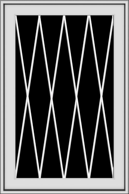 WDMA 24x36 (24.5 x 36.5 inch) White uPVC/Vinyl Push out Awning Window with Diamond Grids