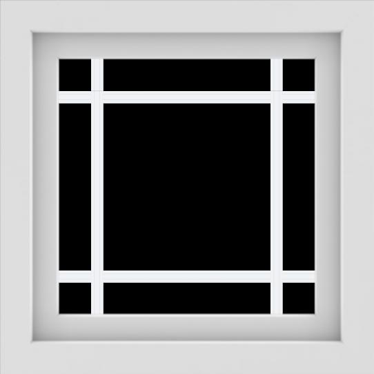 WDMA 24x24 (23.5 x 23.5 inch) White Aluminum Slide Window with Prairie Grilles