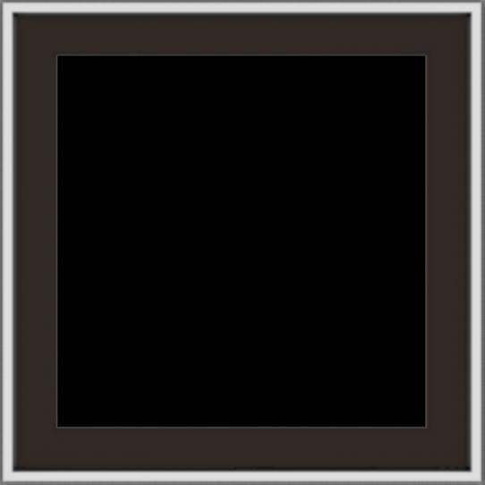 WDMA 24x24 (23.5 x 23.5 inch) Dark Bronze Aluminum Push out Casement Window without grids exterior