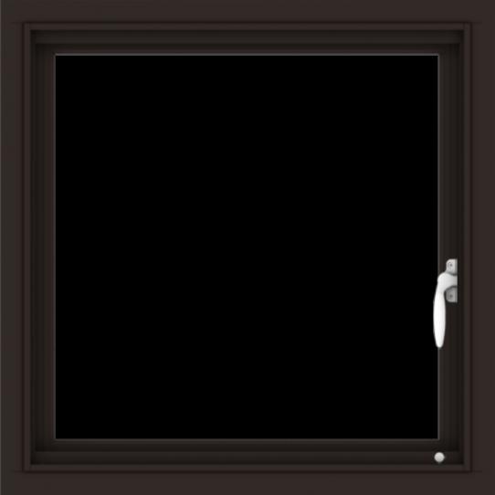 WDMA 24x24 (23.5 x 23.5 inch) Dark Bronze Aluminum Push out Casement Window without Grids Interior