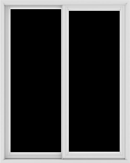WDMA 48X60 (47.5 x 59.5 inch) White uPVC/Vinyl Sliding Window without Grids Exterior