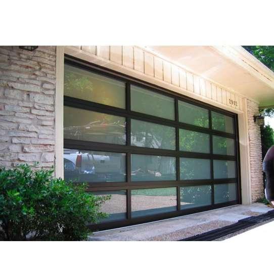 China WDMA 16x7 Aluminium Insulated Tempered Glass Garage Door Price